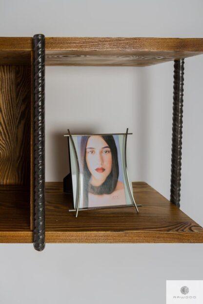Półka wisząca z drewna litego do salonu HEGEL find us on https://www.facebook.com/RaWoodpl/