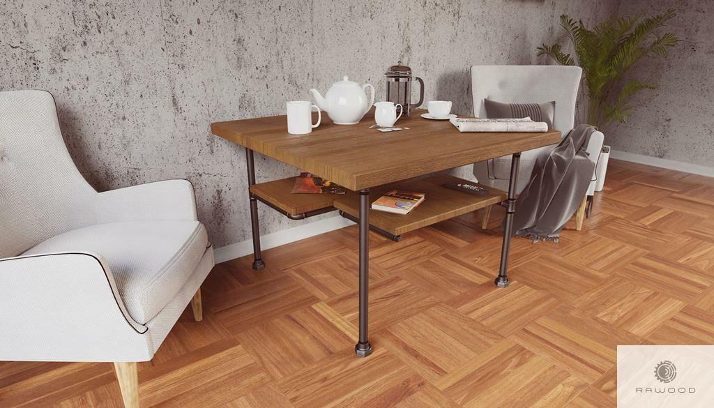 Drewniany stolik kawowy do salonu DENAR find us on https://www.facebook.com/RaWoodpl/