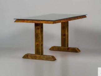 Stół ze starego drewna litego ze szkłem DREDD find us on https://www.facebook.com/RaWoodpl/