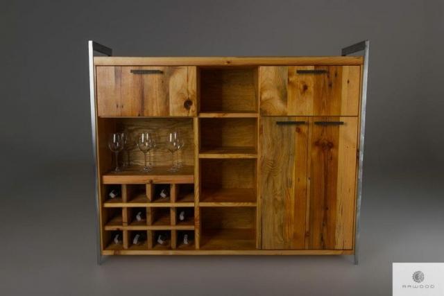 Industrialny barek ze starego drewna litego do jadalni salonu find us on https://www.facebook.com/RaWoodpl/
