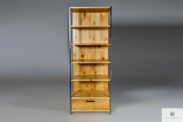 Industrialny regal ze starego drewna litego find us on https://www.facebook.com/RaWoodpl/