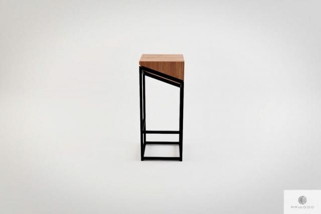 Hoker krzeslo barowe debowe drewno lite metal ALEX find us on https://www.facebook.com/RaWoodpl/