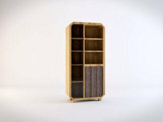 Regały do salonu Słupki z drewna