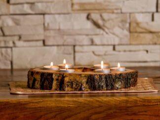Dekoracje drewniane Zegary Świeczniki