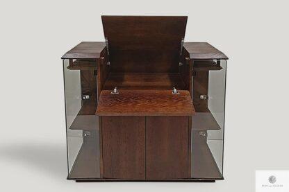 Nowoczesny barek na alkohol z drewna litego z wieszakami na kieliszki CARMEN Producent Mebli RaWood Premium Furniture