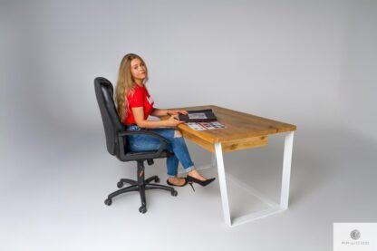 Biurko z szufladami z bali dębowych do gabinetu biura MERGE Producent Mebli RaWood Premium Furniture