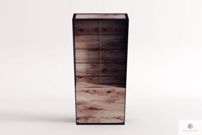 Debowa witryna duza ze szklem do salonu IBSEN Producent Mebli RaWood Premium Furniture