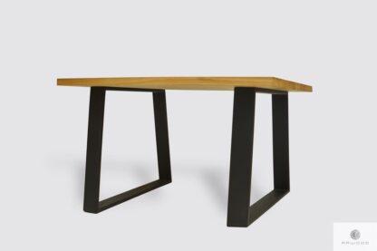 Dębowy stół na metalowych nogach do jadalni SERSO Producent Stołów RaWood Premium Furniture