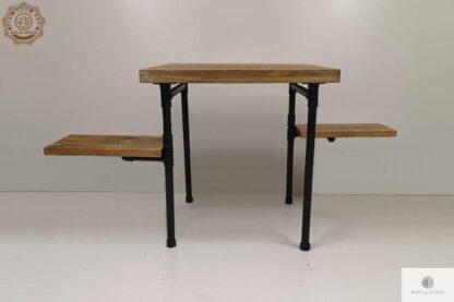 Drewniany stolik kawowy do salonu DENAR Producent Mebli RaWood Premium Furniture