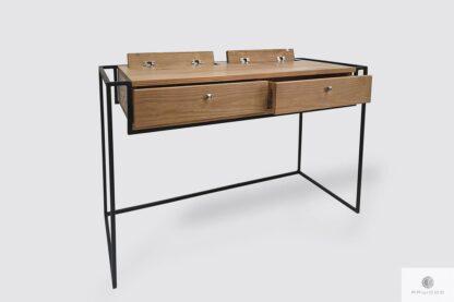 Industrialne biurko z drewna litego z szufladami do gabinetu Producent Mebli RaWood Premium Furniture