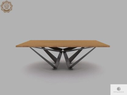 Loftowy stol z debowego drewna do jadalni XAVIER find us on https://www.facebook.com/RaWoodpl/