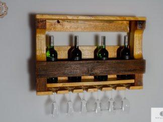 Polka drewniana na alkohol i kieliszki find us on https://www.facebook.com/RaWoodpl/