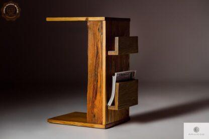 Pomocnik stolik pod laptopa z drewna do salonu find us on https://www.facebook.com/RaWoodpl/