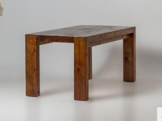 Rustykalny stol ze starego drewna sosnowego do jadalni DRACO find us on https://www.facebook.com/RaWoodpl/