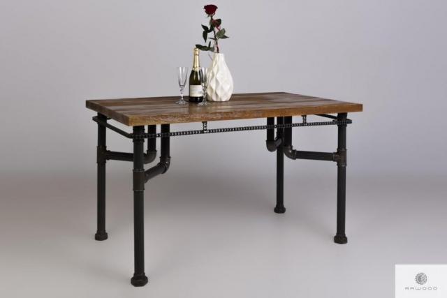 Industrialny stol z sosnowego drewna litego do salonu VENTUR  find us on https://www.facebook.com/RaWoodpl/