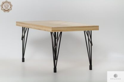 Stol z jesionowego drewna do jadalni i salonu IFUX find us on https://www.facebook.com/RaWoodpl/