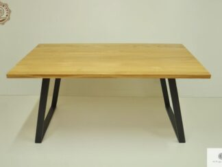 Stol z litego drewna debowego do jadalni i salonu CALLA Producent Mebli RaWood Premium Furniture