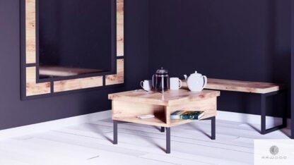 Stolik kawowy debowy drewniany do pokoju salonu HUGON find us on https://www.facebook.com/RaWoodpl/
