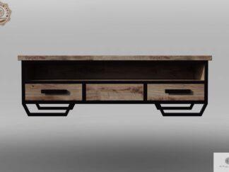 Szafka konsola RTV z debowego drewna litego do salonu HUGON Producent Mebli RaWood Premium Furniture