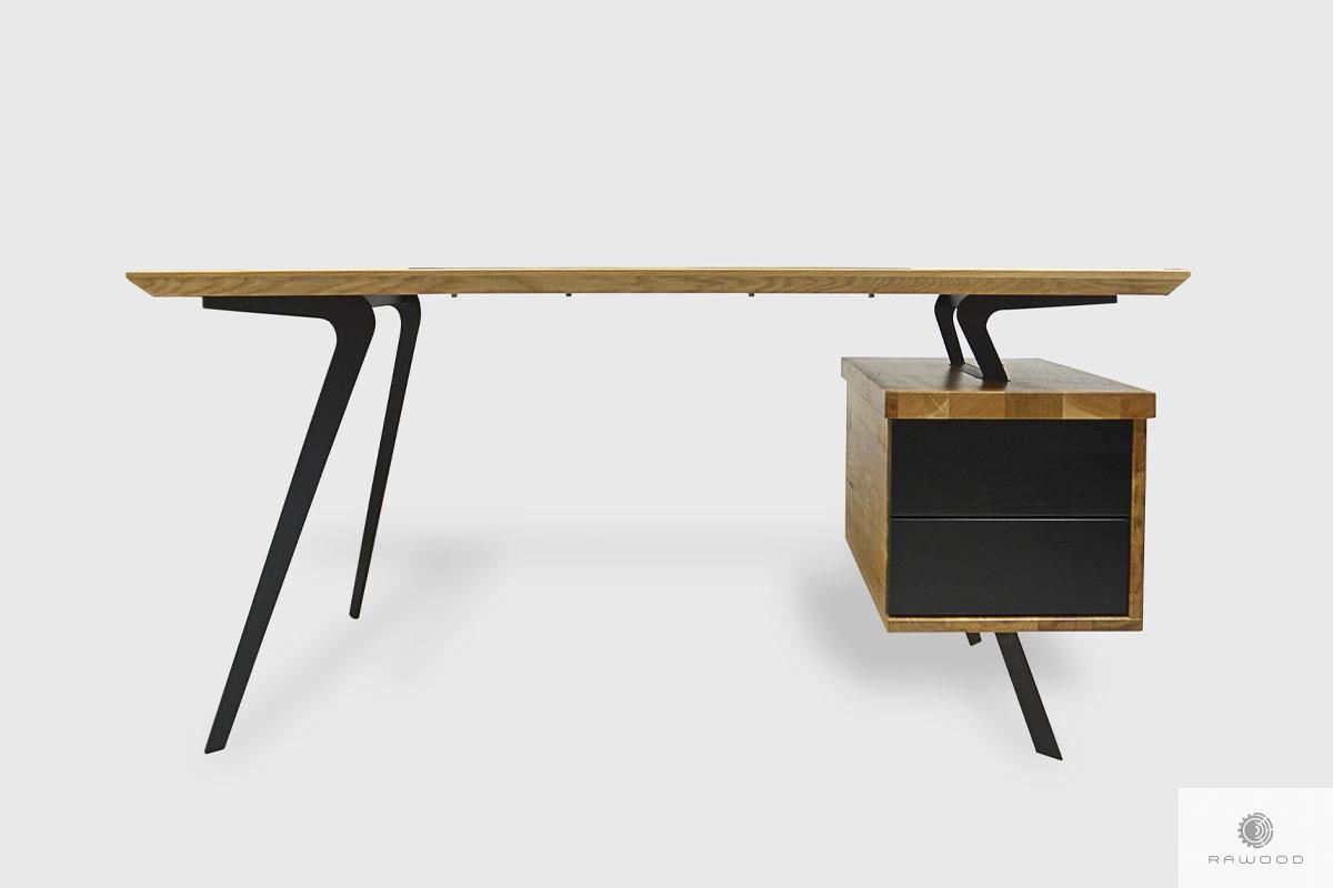 Biurko dębowe z szufladami open space do gabinetu VITA