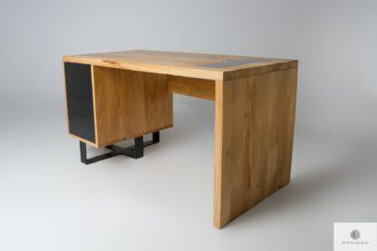Biurko z dębowego drewna litego do gabinetu MOCCA