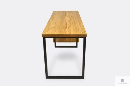 Biurko z drewnianym blatem nowoczesne solidne HUGON