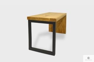 Dębowa industrialna ławka loftowa z litego drewna HUGON