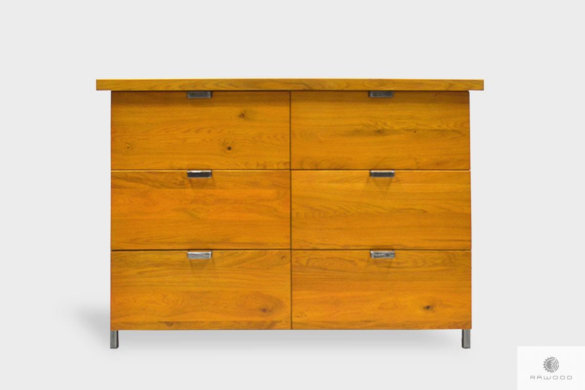 Dębowa komoda z szufladami z drewna litego do salonu HUGON
