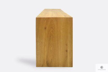 Dębowa ławka z naturalnego litego drewna na zamówienie HUGON