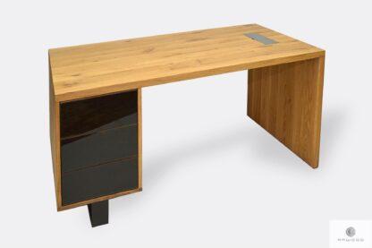 Dębowe biurko gabinetowe z szufladami do biura MOCCA