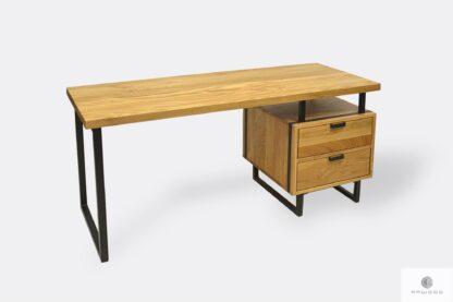 Dębowe biurko gabinetowe z szufladami HUGON