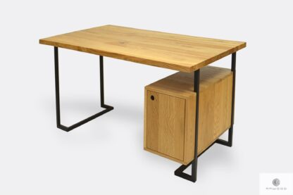 Dębowe biurko komputerowe do biura gabinetu OLIMPIA