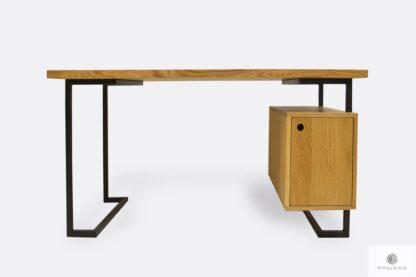 Dębowe biurko industrialne do gabinetu kancelarii biura OLIMPIA