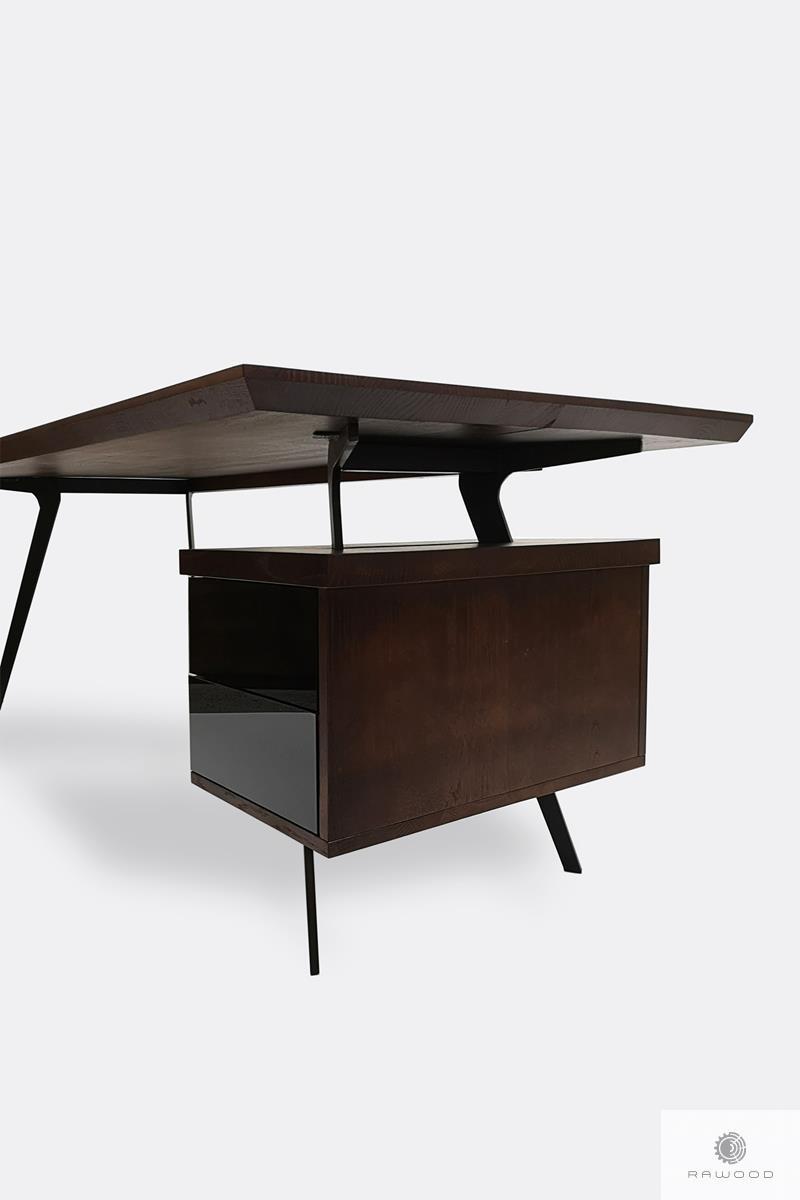 Dębowe biurko z kontenerkiem na zamówienie do gabinetu VITA