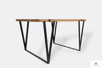 Dębowy industrialny stół loftowy do jadalni NERON