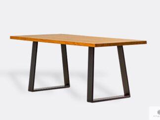 Dębowy stół na metalowych nogach do jadalni SERSO