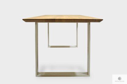 Dębowy stół nowoczesny na metalowych nogach na wymiar BRITA