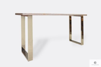 Dębowy stół z bielonym blatem do jadalni salonu SILVERADO