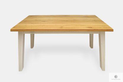 Dębowy stół z drewna litego naturalnego do jadalni BIANCO