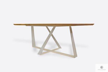 Dębowy stół z metalowymi nogami do jadalni BORNEO