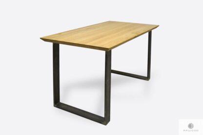 Designerski stół dębowy do jadalni salonu BRITA