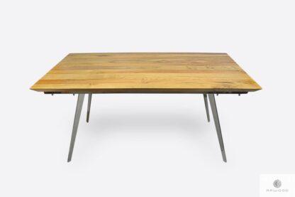 Designerski stół dębowy na metalowych nogach do jadalni VITA