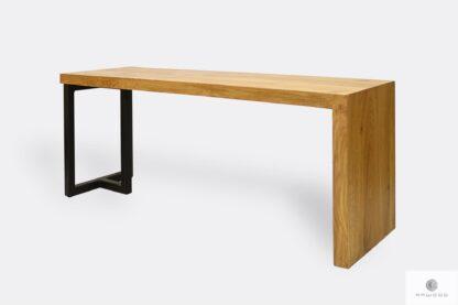 Drewniana ławka metalowa do jadalni przedpokoju HUGON