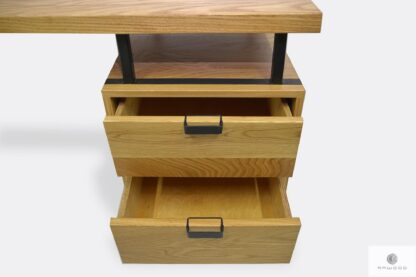 Drewniane biurko z szufladami do gabinetu biura HUGON