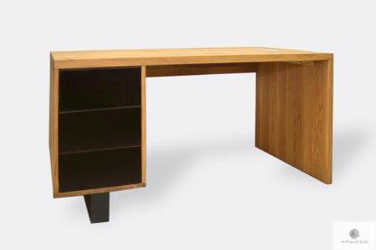 Drewniane biurko z szufladami do gabinetu MOCCA