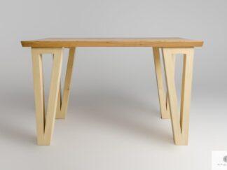 Drewniany stół z drewna litego do jadalni salonu JEZZ