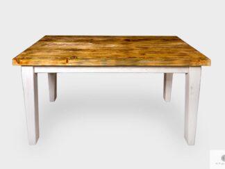 Drewniany stół z drewna palonego i bielonego do jadalni BURN