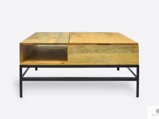 Drewniany stolik kawowy z podnoszonym blatem do salonu ASTOR