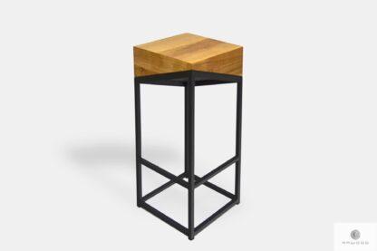 Hoker industrialny drewniany metalowy na zamówienie ALEX