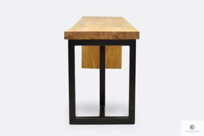 Industrialna ławka z drewna i stali na wymiar HUGON I